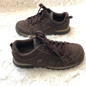 Skechers || Brown Lace Up Shoes